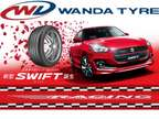 Wanda Radial Tubeless Tyre For Maruti Swift With