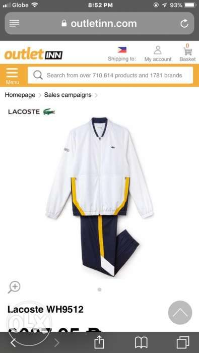 437c880b6 Lacoste Sport Jacket and jogging pants in Marikina