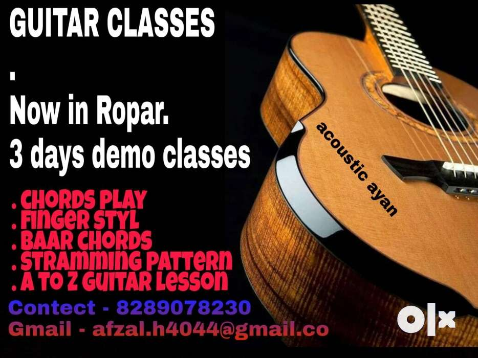 Guitar Classes Easy Way To Learn Guitar Rupnagar Services
