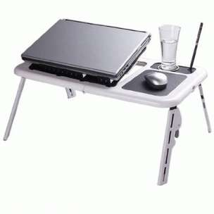 Portable Compact Desk With Fan Cup Holder Mouse Pad, Pen Standing