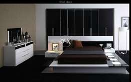 Hogh gloss finishing lighting bed set complete