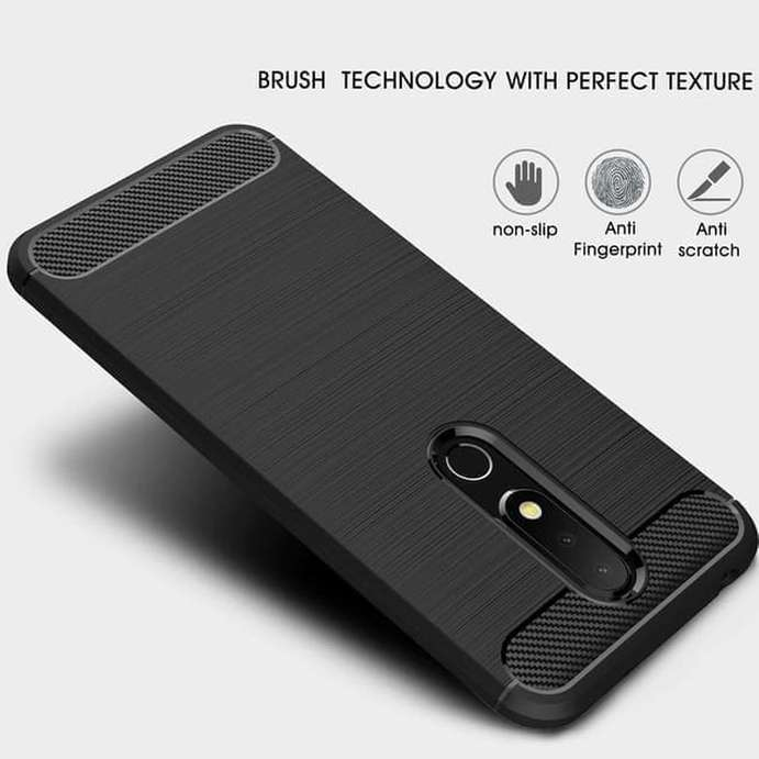 promo code 5c277 857eb Case Ipaky Nokia 6.1 Plus Carbon Softshell Cover Case - FT1614H