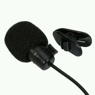 mic clip on microphone with smartphone
