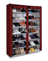 Covered Shoe Rack - Non Woven Fabric - Double Door