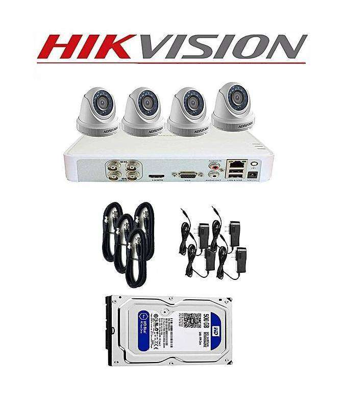 Hikvision 1 to 4 CCTV Camera wd DVR,complete setup with Installation