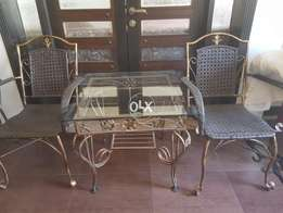 One centre table with 3 chairs