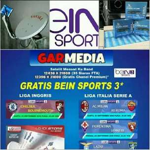 TV Digital Satelit Parabola Garmedia Gratis Channel Nasional & Premium