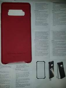 Samsung Leather Cover Case for Galaxy S10+ Red ORIGINAL