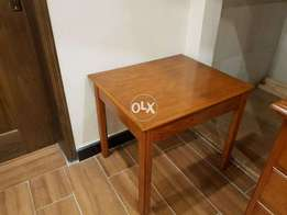 Wooden corner table imported