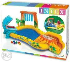 "57444 intex (size:98""L/75""W/43""H) dinosaur play center pool."