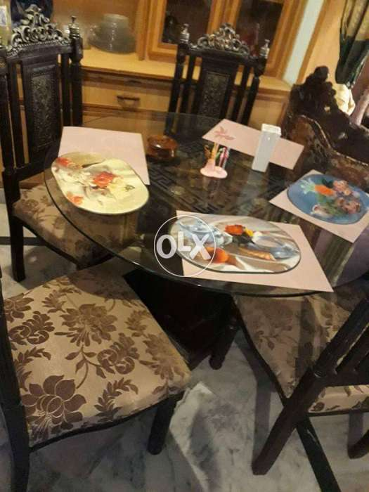Dining Table Wd 6 Chairs