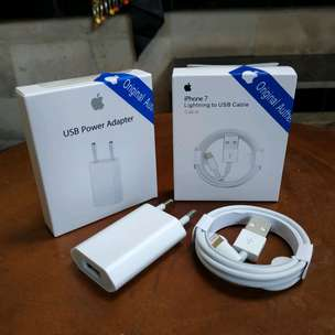Kabel iPhone Lightning dan Charger Original