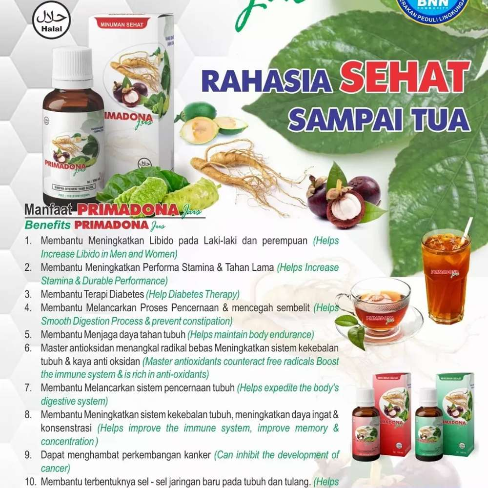 Minuman Sehat Juss Primadona Nutrisi Suplemen 794585273