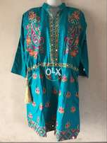 For Ladies Fully Embroidered Karhai Wali Kurti Frocks in Good Price