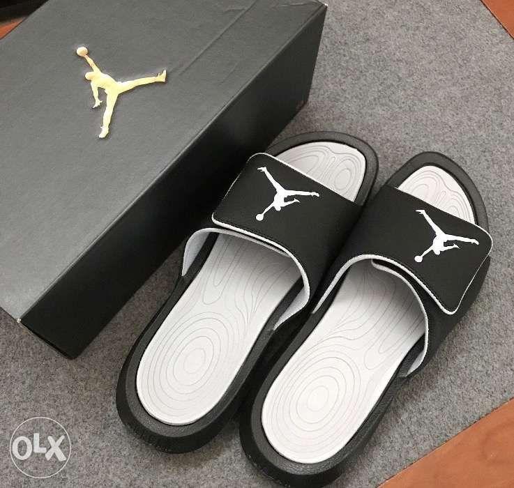 97b6d4c28605 ... Nike Jordan Hydro 6 Slides in Black Wolf Grey Sandals Men size 10 ...