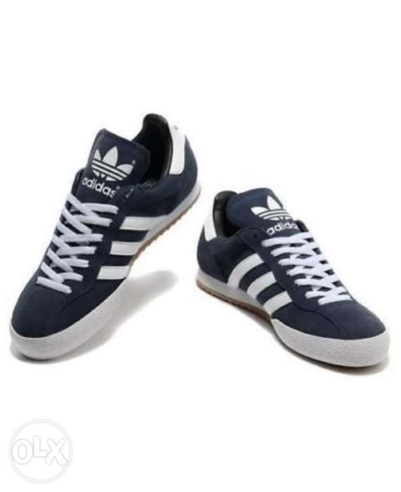 online retailer 0caa0 2dfd0 Adidas Samba Super Suede Navy Blue and White Size 9.5 US ...