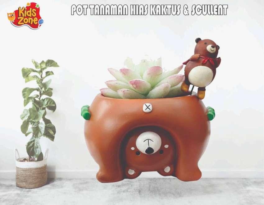 Pot Bunga Tanaman Hias Mini Kaktus Dan Skulen Karakter Hewan Beruang L Dekorasi Rumah 803258779