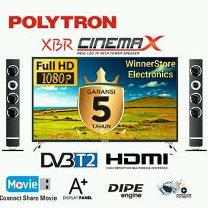 "PROMO!! New LEDtv POLYTRON Tower CinemaX PRO FULLHD 50""""inchi (2019)"