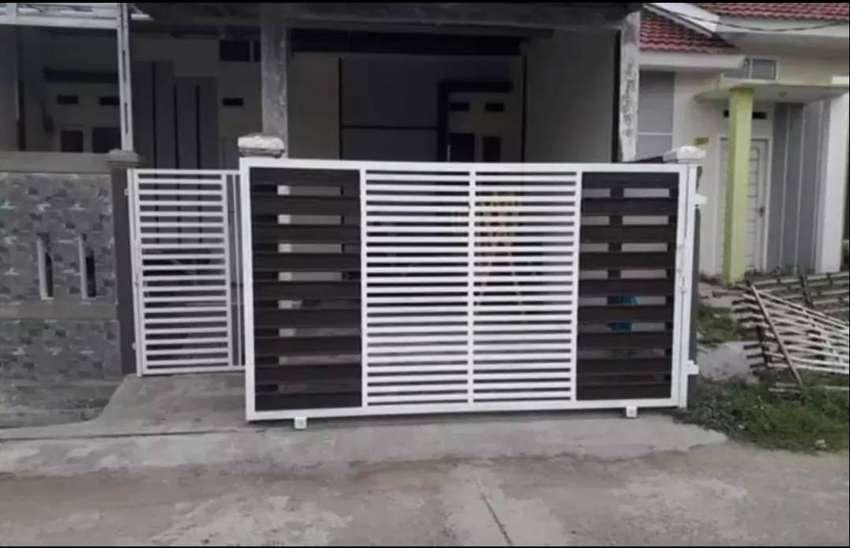 Pagar Minimalis Holo Galpanis 012 - Konstruksi Dan Taman - 768954137