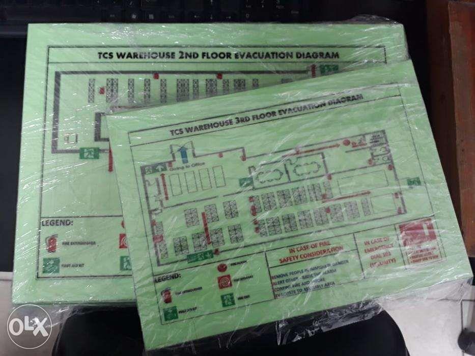06d9f9cc2 Glow in the dark Sticker Luminous Sticker Evacuation Plan Printing ...