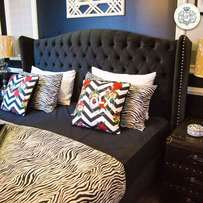 King size bed full cushion wing style without matress