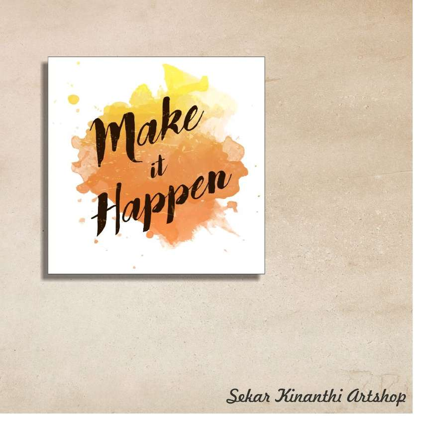 Make It Happen >> Hiasan Gantungan Dinding Rumah Motivasi Make It Happen