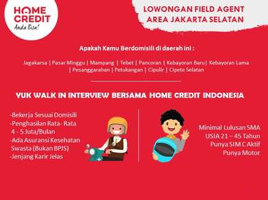 Loker Home Credit Indonesia : Field Agent