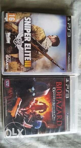 Ps3 Games Sniper Elite 3 And Biohazard Operation Racoon City In