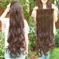 Long Lose curl Hair Extensions 5 clips