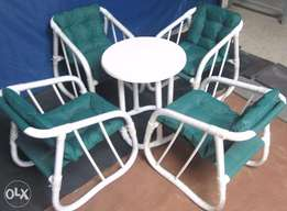 Good desgin in market these day stylish new pated chairs with table