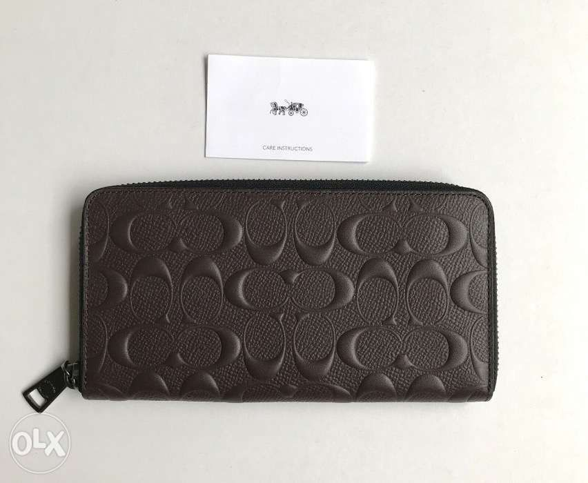 hot sale online 25345 4a17a AUTHENTIC Coach Mens Long Wallet F58113 MAH Accordion in ...
