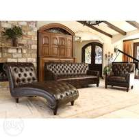 New classic tufted sofa four seater and Royal setty | leatheright.