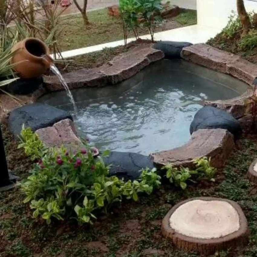 Pembuatan Kolam Ikan Sederhana Konstruksi Dan Taman 758476859