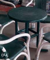 24inch green table in new look beautiful PVC Coated