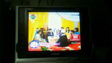 jual cepet Tv 21 in Flat normall BU bos