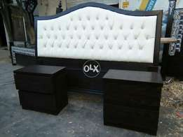2 side table with double bed dressing
