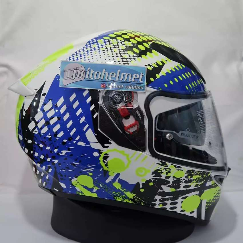 Agv K3 Sv Multi Pop White Blue Lime Sni Original Helm 764863780