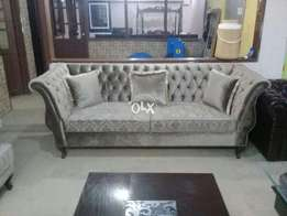 new sofa set | seven seater | curve Arm tufted For drawing room.