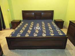 King Bed with Almari, Dressing and Side tables