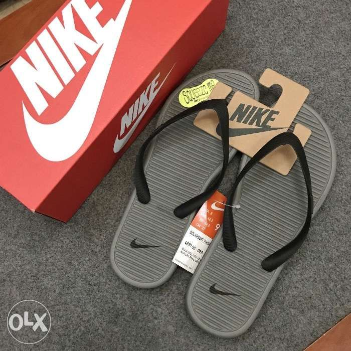73c40dfb950a75 AUTHENTIC Nike Solarsoft Thong II Black Cool Grey Flip Flops for Men ...