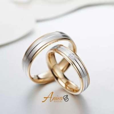 Cincin Custom Bahan Platinum Perak Emas Kuning Gratis Kotak Perhiasan 796742178
