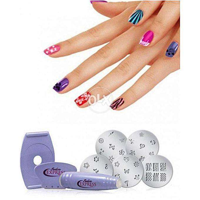 Pack of 2 Nail Art Stamping Kit For Women - Multicolor - Karachi ...