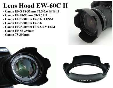 Hood EW 60C dan EW 60C II Lensa Kit 18-55mm IS Canon