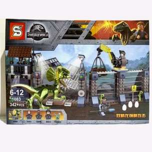 SY1083 Jurassic World Dilophosaurus Outpost Attack Brick Lego