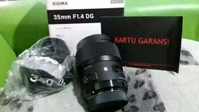 new lensa sigma 35 mm f 1.4 art for sony a mount