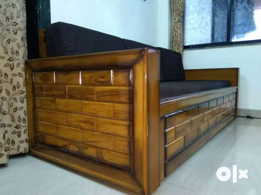 Designer Wooden Sofa Bed With