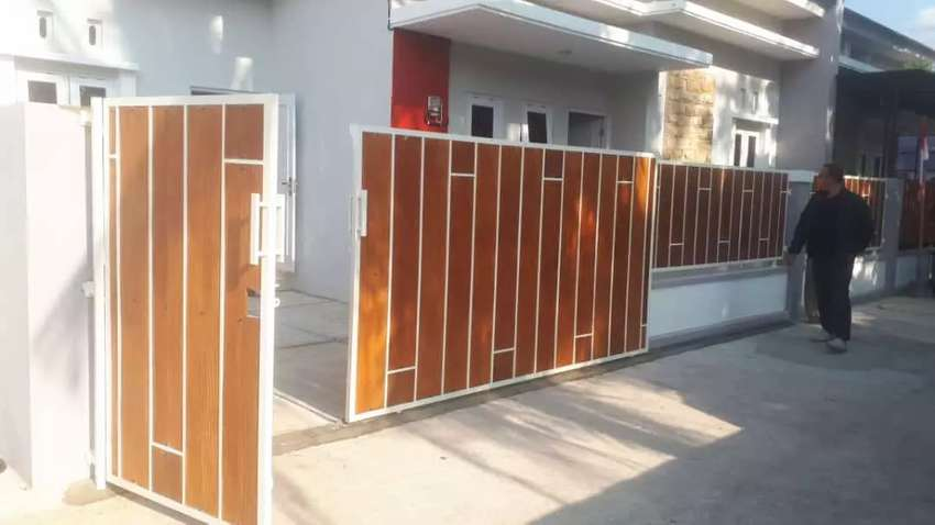 Pintu Gerbang Dan Pagar Kanopi Minimalis Atap Spandex Galvalum - Konstruksi  Dan Taman - 802469710