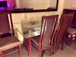 6 chairs new dining table