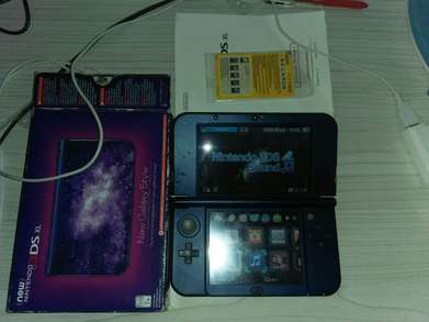 new Nintendo 3DS XL galaxy limited edt OFW