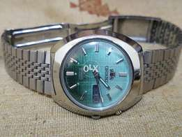 Original Orient 3 Star Green Big Dial Automatic